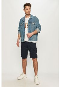 Niebieskie szorty Tom Tailor casualowe, gładkie, na co dzień