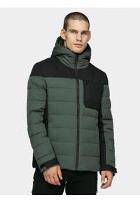 Szara kurtka puchowa 4f na zimę