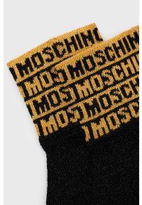 MOSCHINO - Moschino - Rękawiczki. Kolor: żółty