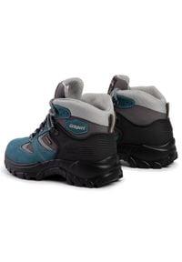 Niebieskie buty trekkingowe Grisport z cholewką, trekkingowe