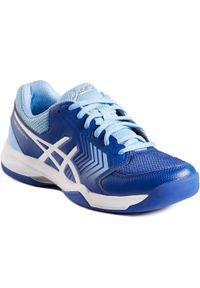 Asics - Buty tenisowe Gel Dedicate damskie na nawierzchnię dywanową. Materiał: mesh. Szerokość cholewki: normalna. Sport: tenis