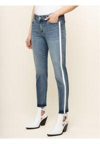 Niebieskie jeansy slim Escada Sport sportowe