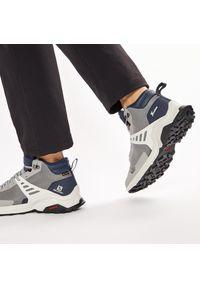 Szare buty trekkingowe salomon Gore-Tex, trekkingowe