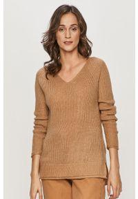 Beżowy sweter Haily's długi, z długim rękawem