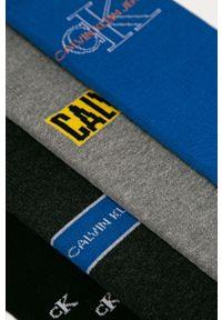 Niebieskie skarpetki Calvin Klein Jeans z nadrukiem