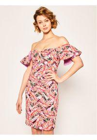 Guess Sukienka letnia Clara W0GK0T WCUV0 Kolorowy Regular Fit. Wzór: kolorowy. Sezon: lato