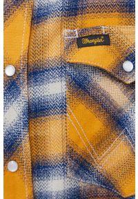 Wrangler - Koszula bawełniana. Typ kołnierza: kołnierzyk klasyczny. Kolor: pomarańczowy. Materiał: bawełna. Styl: klasyczny