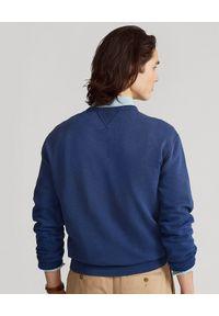 Ralph Lauren - RALPH LAUREN - Granatowa bluza z nadrukiem. Okazja: na co dzień. Typ kołnierza: bez kaptura, polo. Kolor: niebieski. Materiał: tkanina. Wzór: nadruk. Styl: sportowy, klasyczny, casual
