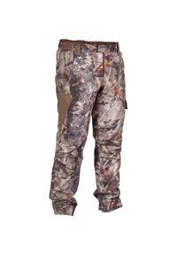 SOLOGNAC - Spodnie myśliwskie WTP WARM CAMO500. Materiał: tkanina, polar