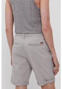 Jack & Jones - Szorty. Okazja: na co dzień. Kolor: szary. Materiał: tkanina, elastan, bawełna. Wzór: gładki. Styl: casual #2
