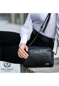 Czarna torebka PAOLO PERUZZI na ramię