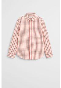 Czerwona koszula Mango Kids klasyczna, długa, na co dzień