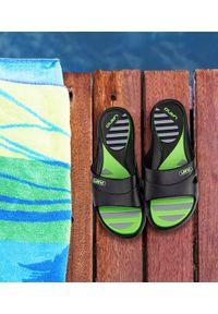 LANO - Klapki damskie basenowe Lano KL-3-3060-9 Czarne. Okazja: na plażę. Kolor: czarny. Materiał: guma. Obcas: na obcasie. Wysokość obcasa: średni, niski