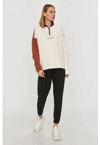 Biała bluza adidas Originals z długim rękawem, krótka, bez kaptura