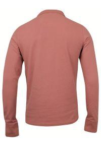 Różowy t-shirt Brave Soul z długim rękawem, na co dzień, casualowy, polo