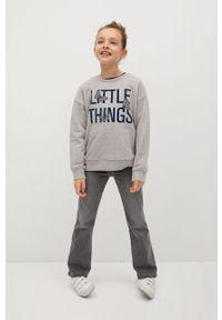 Szara bluza Mango Kids z aplikacjami, bez kaptura