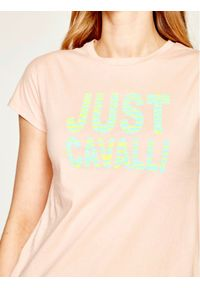 Różowy t-shirt Just Cavalli