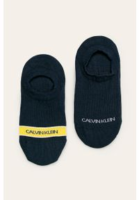 Niebieskie skarpetki Calvin Klein z nadrukiem