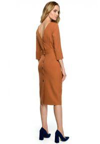Sukienka mini, z dekoltem w kształcie v, ołówkowa