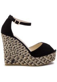 Czarne sandały Espadrilles