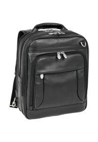 Plecak na laptopa MCKLEIN Lincoln Park 15.6 cali Czarny. Kolor: czarny. Materiał: skóra. Styl: biznesowy, elegancki