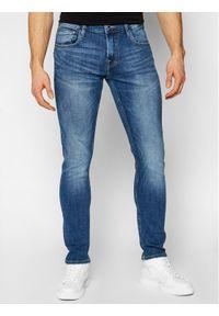 Guess Jeansy Chris M1RA27 D4B71 Granatowy Super Skinny Fit. Kolor: niebieski