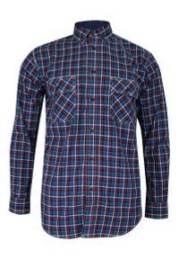 ForMax - Koszula Niebiesko-Czerwona Casualowa w Kratkę, 100% Bawełna, Slim, Długi Rękaw -FORMAX. Okazja: na co dzień. Kolor: niebieski, czerwony, wielokolorowy. Materiał: bawełna. Długość rękawa: długi rękaw. Długość: długie. Wzór: kratka. Styl: casual