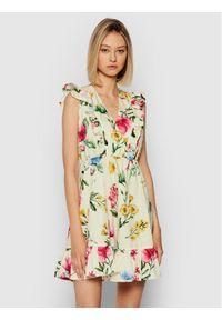 Rinascimento Sukienka letnia CFC0103754003 Beżowy Regular Fit. Kolor: beżowy. Sezon: lato