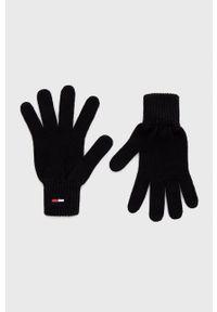 Tommy Jeans - Rękawiczki. Kolor: czarny. Materiał: bawełna