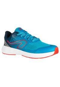 KALENJI - Buty lekkoatletyczne dla dzieci AT 500 Kiprun Fast. Kolor: wielokolorowy, turkusowy, niebieski. Materiał: kauczuk. Sport: bieganie