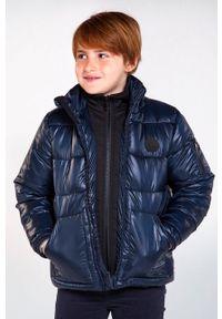 Niebieska kurtka Mayoral na co dzień, z kapturem, casualowa