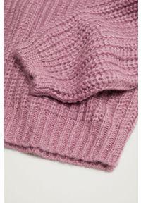 Różowy sweter Mango Kids gładki