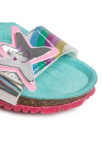 Srebrne sandały Agatha Ruiz de la Prada z aplikacjami