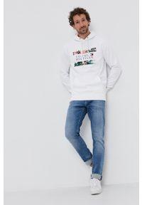 TOMMY HILFIGER - Tommy Hilfiger - Bluza bawełniana. Okazja: na co dzień. Kolor: biały. Materiał: bawełna. Wzór: nadruk. Styl: casual