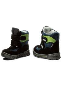 RenBut - Śniegowce RENBUT - 12-1463 Czarny Zielony. Kolor: czarny, wielokolorowy, zielony. Materiał: skóra, zamsz. Sezon: zima, jesień #6