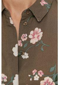 Vero Moda - Sukienka. Kolor: zielony. Materiał: tkanina. Typ sukienki: rozkloszowane