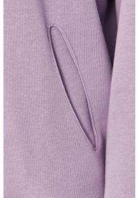 Fioletowa bluza Answear Lab gładkie, z kapturem