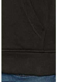 Czarna bluza nierozpinana Brave Soul casualowa, z kapturem