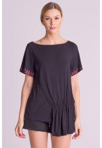 Czarna bluzka Versace Collection długa, elegancka