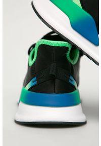 Czarne sneakersy adidas Originals z cholewką, na sznurówki, do biegania