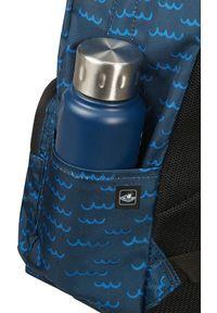 Niebieski plecak na laptopa Samsonite w kolorowe wzory