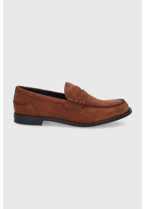 vagabond - Vagabond - Mokasyny skórzane Justin. Nosek buta: okrągły. Kolor: brązowy. Materiał: skóra