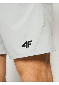 4f - 4F Szorty sportowe H4L21-SKMF012 Szary Regular Fit. Kolor: szary