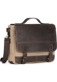 Beżowa torba na laptopa KEMER
