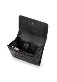 Wittchen - Damski portfel skórzany zapinany na zatrzask. Kolor: czarny. Materiał: skóra