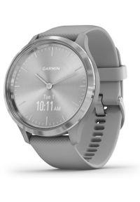 GARMIN - Garmin smartwatch vivomove 3 Powder Gray/Silver, Silicone. Rodzaj zegarka: smartwatch. Kolor: szary. Styl: klasyczny
