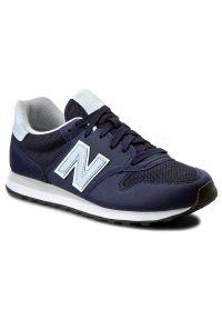 Niebieskie buty sportowe New Balance z cholewką, na płaskiej podeszwie