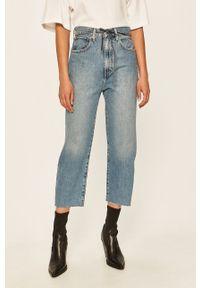 Niebieskie jeansy Levi's Made & Crafted w kolorowe wzory