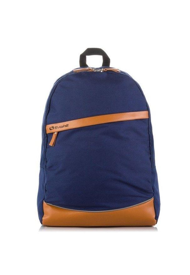 Everhill - Plecak szkolny młodzieżowy granatowy EVERHILL. Kolor: niebieski. Materiał: materiał. Styl: młodzieżowy