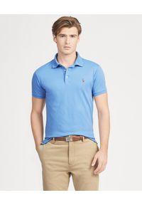 Ralph Lauren - RALPH LAUREN - Koszulka Polo Slim Fit. Typ kołnierza: polo. Kolor: niebieski. Materiał: bawełna. Wzór: haft. Styl: klasyczny